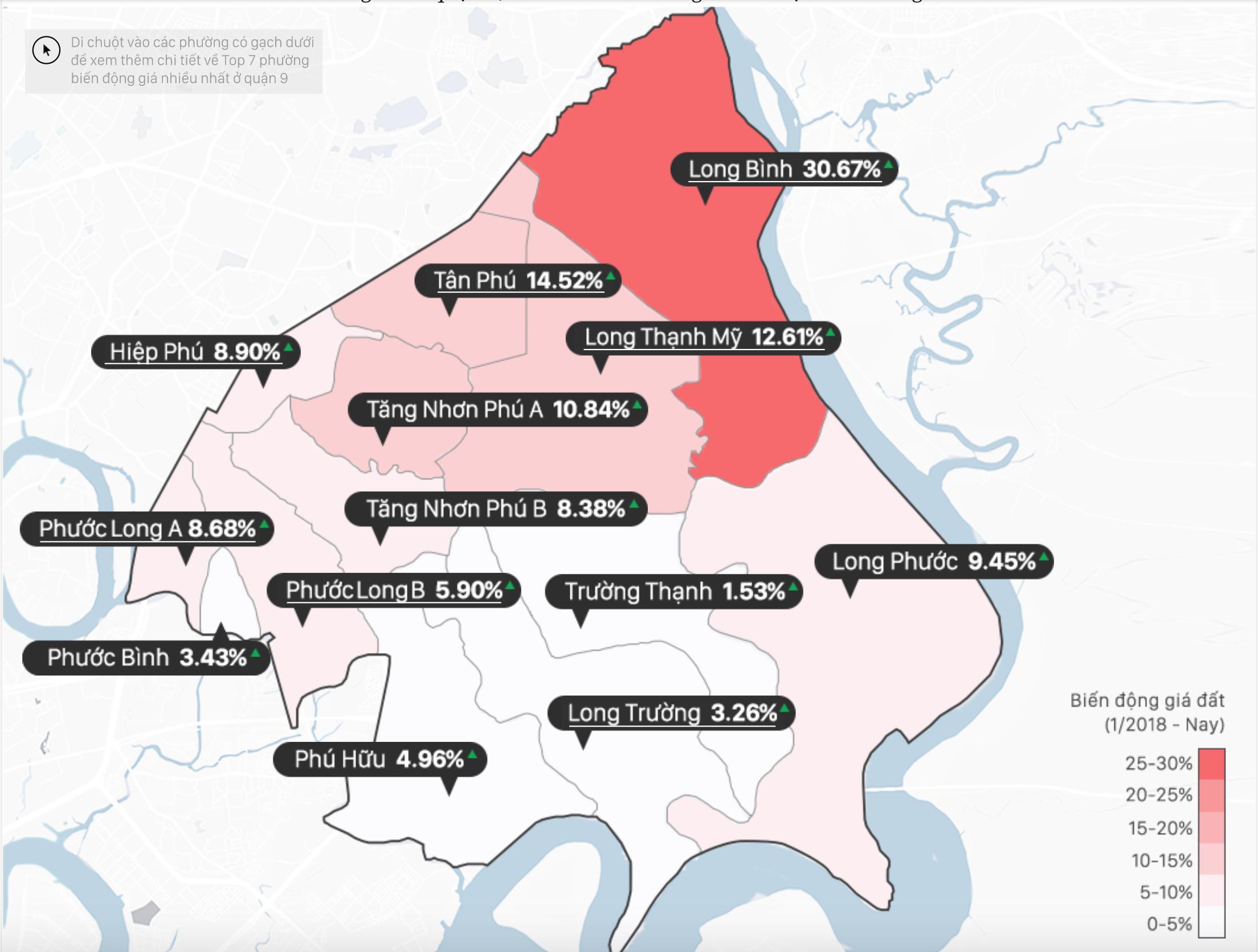 Đất quận 9 tăng giá như thế nào?