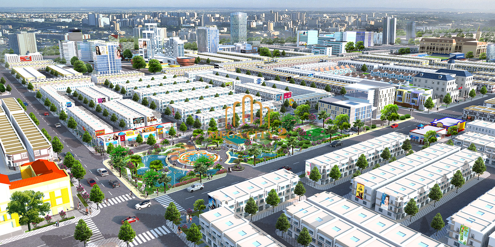 Mega City - Phối cảnh công viên