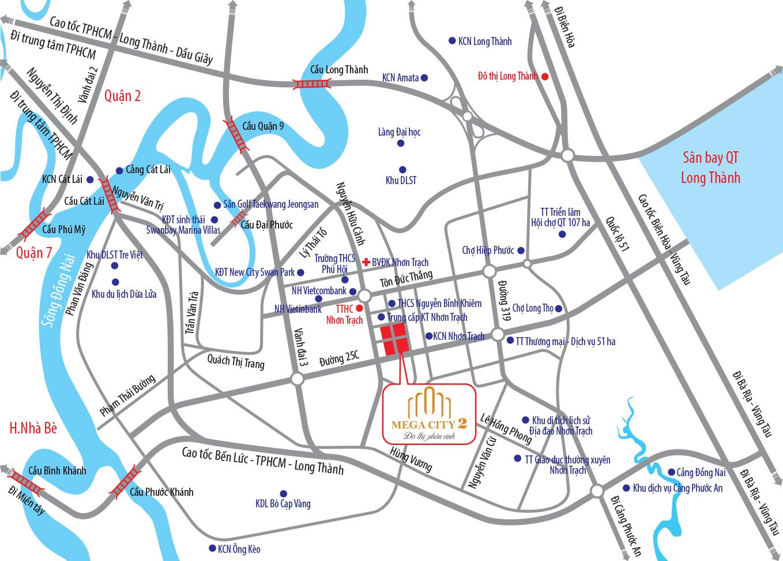 Dự án Mega City - Sơ đồ vị trí